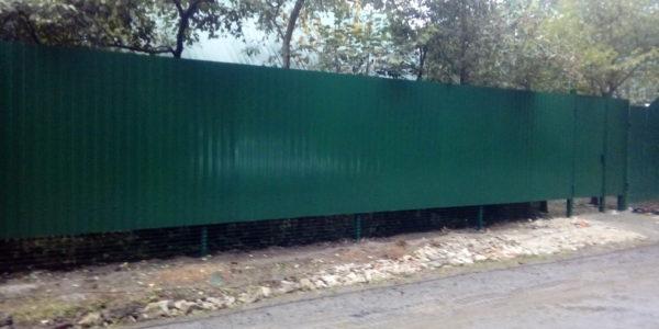 Забор из профнастила ral8017 в Воронеже - 19