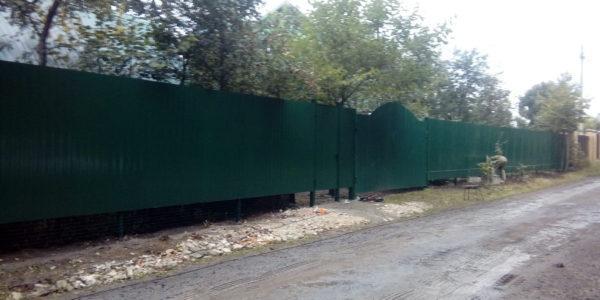 Забор из профнастила ral8017 в Воронеже - 20