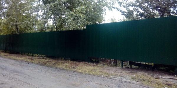 Забор из профнастила ral8017 в Воронеже - 21