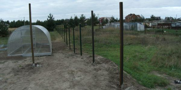 Забор участка сетка