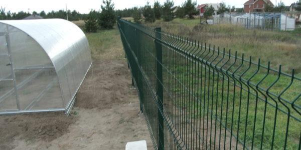 Забор из профлиста и 3D сетки - 4