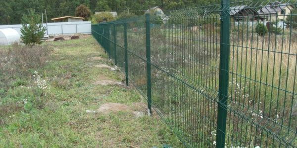 Ворота для забора из сетки рабицы