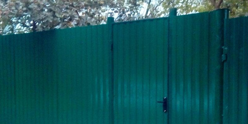 Забор из профнастила ral8017 в Воронеже - 23