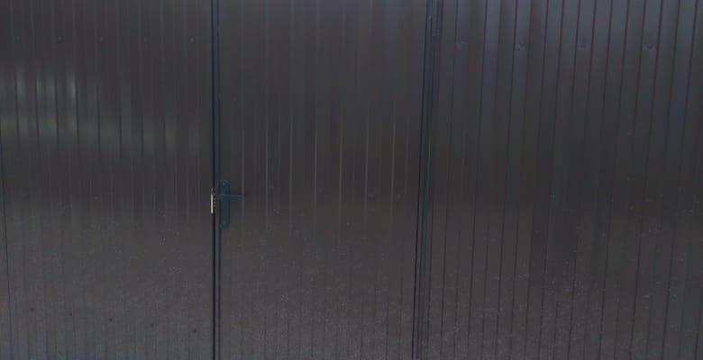 Забор с откатными воротами в Бабяково - 2