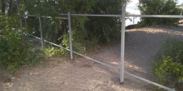 Забор из сетки рабицы - 14