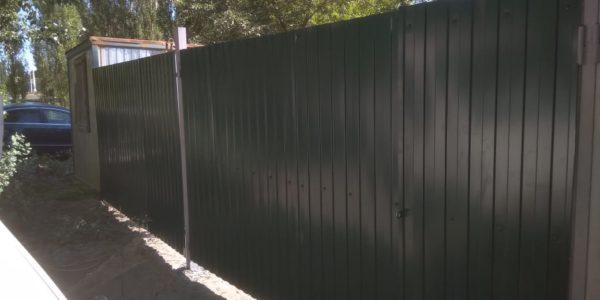 забор из профлиста в рамке - 3