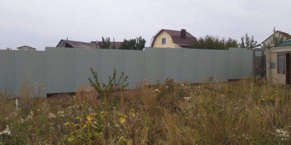 Забор в СНТ Поддубье
