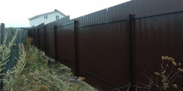 Забор из профлиста в селе Губарево