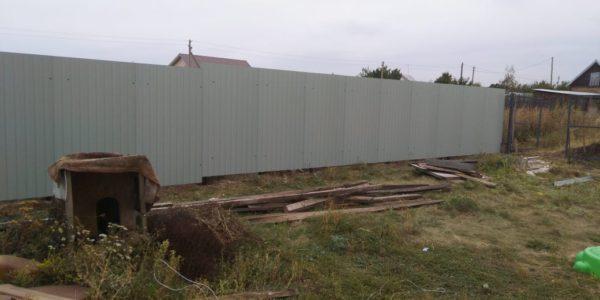 Забор из профлиста в селе Губарево - 3