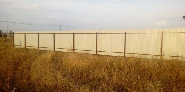 Забор из профлиста изнутри - 20