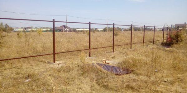 Забор из профлиста в селе Губарево - 2