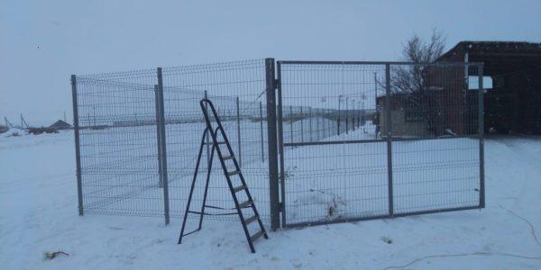 3д ограждение в зимний период - 15