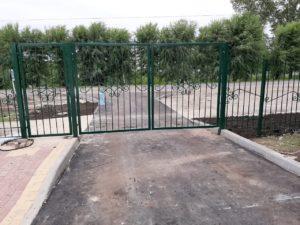 металлический секционный забор