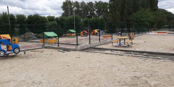 Ограждение детского сада в селе Хохол