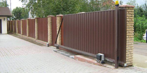 откатные ворота для участка воронеж