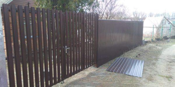 установить ворота с калиткой в воронеже