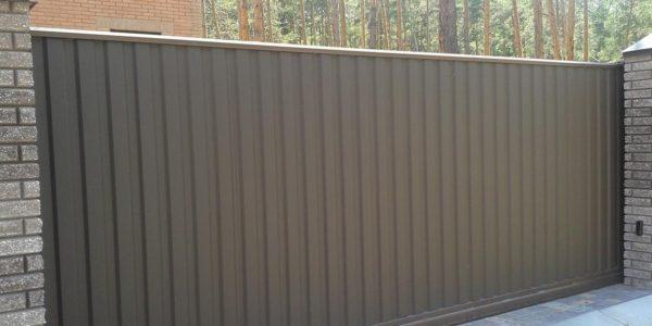 установка откатных ворот воронеж